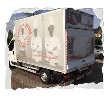 Belettering bakwagen