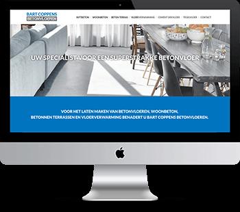 Webdesign Coppens betonvloeren