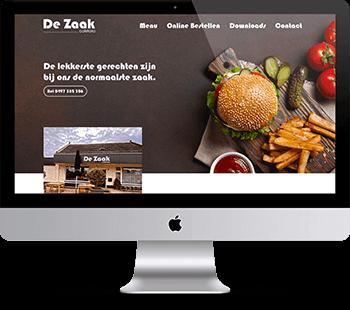 Webdesign Cafetaria de Zaak