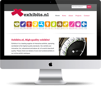 Webdesign Exhibits